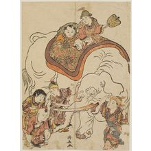 Torii Kiyonaga: Chinese Boys with an Elephant, from an untitled series of Chinese Children (Karako) - Museum of Fine Arts