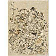 鳥居清長: The Seven Gods of Good Fortune - ボストン美術館