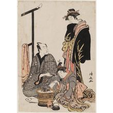 Torii Kiyonaga: Actor Matsumoto Kôshirô IV with a Courtesan and a Kamuro - Museum of Fine Arts