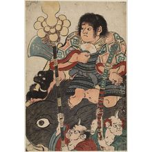 Torii Kiyonaga: Kintarô Riding on a Wild Boar - Museum of Fine Arts