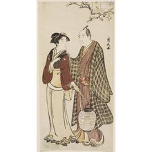 Torii Kiyonaga: Actor Sawamura Sôjûrô III and a Teahouse Waitress - Museum of Fine Arts