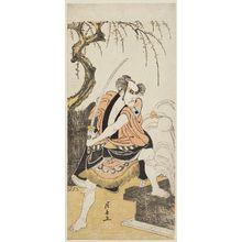 Torii Kiyonaga: Actor Ichikawa Danjûrô V as Akamatsu Mushanosuke (?) - Museum of Fine Arts