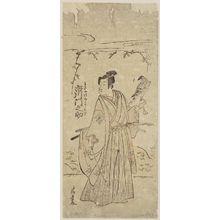 鳥居清長: Actor Ichikawa Monnosuke II as Wakiya Jirô Yoshisuke - ボストン美術館