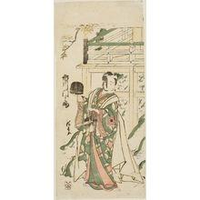 鳥居清長: Actor Ichikawa Monnosuke II as Jôheida Sadamori - ボストン美術館