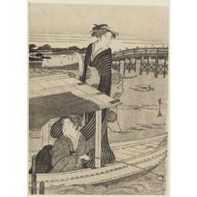 細田栄之: Two Women in a Pleasure Boat - ボストン美術館