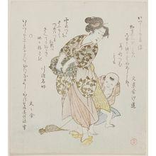 窪俊満: Faith (Shin), from the series Five Virtues for the Katsushika Circle (Katsushika gojô) - ボストン美術館