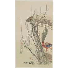 窪俊満: Plum Tree with Poem Papers outside a Study - ボストン美術館