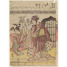 Kitao Masanobu: Sunset Glow at Kameido (Kameido no sekishô), from the series Eight Views of the Festivals of Various Gods in Edo (Oedo shojinn gosairei hakkei) - Museum of Fine Arts