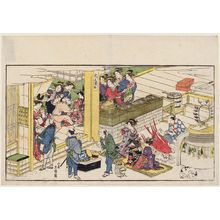 Kitao Masanobu: Fox Dance in the Yoshiwara, from the album Spring in the Four Directions (Yomo no haru) - Museum of Fine Arts