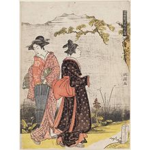 Kitao Masanobu: Women Walking, from the series Ten Patterns of Alluring Figures in the Modern World (Tôsei enshi jukkei no zu) - ボストン美術館