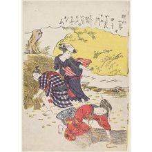 Kitao Masanobu: No. 10, Tagari, from the series Twelve Seasons of Agriculture (Kôsaku jûni setsu) - Museum of Fine Arts