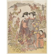 Kitao Masanobu: Hagidera, from the series Places in the Eastern Capital Famous for Flowers (Tôto hana meisho) - Museum of Fine Arts