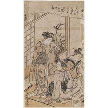 Kitao Masanobu: Twilight Snow (Bosetsu), from an unidentified series of Eight Views (Hakkei) - ボストン美術館