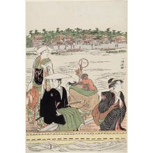 Torii Kiyonaga: A Ferry on the Sumida River - Museum of Fine Arts