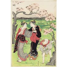 Torii Kiyonaga: Cherry-blossom Viewing at Asuka Hill (Asukayama) - Museum of Fine Arts