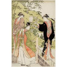 Torii Kiyonaga: A Modern Version of the Story of Ushiwakamaru Serenading Jôruri-hime - Museum of Fine Arts
