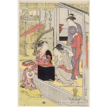 Torii Kiyonaga: Washday - Museum of Fine Arts