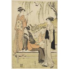 Katsukawa Shuncho: Women Relaxing under a Willow Tree - Museum of Fine Arts