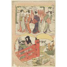 勝川春潮: No. 6, from the series Twelve Months in Six Sheets (Jûni kô rokumai tsuzuki) - ボストン美術館