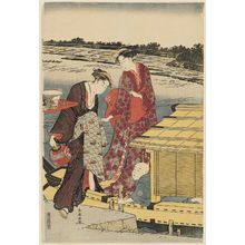 Katsukawa Shuncho: Women Boarding a Pleasure Boat - Museum of Fine Arts