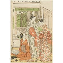Katsukawa Shuncho: Women Reading in Summer - Museum of Fine Arts