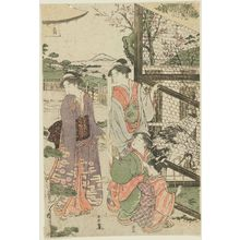 Katsukawa Shuncho: New Year's Day at a Mansion in the Suburbs of Edo - Museum of Fine Arts