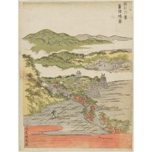 北尾政美: Clearing Weather at Awazu (Awazu seiran), from the series Eight Views of Ômi (Ômi hakkei) - ボストン美術館