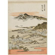 Kitao Masayoshi: Sunset Glow at Seta (Seta sekishô), from the series Eight Views of Ômi (Ômi hakkei) - Museum of Fine Arts