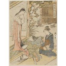 Katsukawa Shuncho: Imoseyama, a Pentaptych (Imoseyama gomai tsuzuki) - Museum of Fine Arts