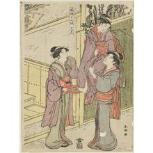 勝川春潮: The Twelfth Month (Jûnigatsu), from the series Twelve Months of Popular Customs (Fûzoku jûni kô) - ボストン美術館