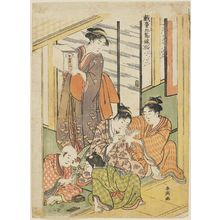 Katsukawa Shuncho: The Doll Festival, from the series Playful Children's Customs of the Five Festivals (Gidô Gosetsu fûzoku) - Museum of Fine Arts