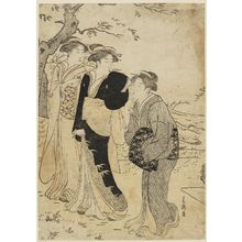 Katsukawa Shuncho: Women Viewing Cherry Blossoms - Museum of Fine Arts