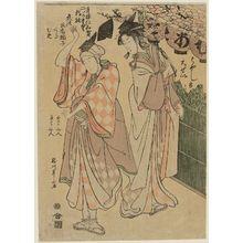 Katsukawa Shunzan: Seirô Niwaka ni no kawari - Museum of Fine Arts