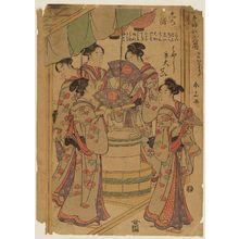 Katsukawa Shunzan: Seirô Niwaka zensei asobi, ni no kawari - Museum of Fine Arts