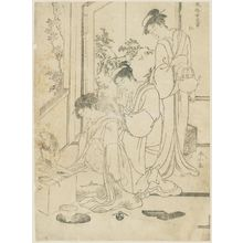 勝川春山: from the series The Five Virtues in the Manners of Women (Fûzoku onna gojô) - ボストン美術館