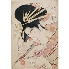 Ichirakutei Eisui: Hinazuru of the Chôjiya, from the series The Flower Stand (Hana no dai) - Museum of Fine Arts