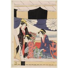 Chokosai Eisho: Women in a Pleasure Boat - Museum of Fine Arts