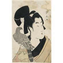 Ichirakutei Eisui: Young Man with Falcon - Museum of Fine Arts