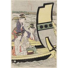 Eishosai Choki: Summer Boating Parties at Ryôgoku Bridge - Museum of Fine Arts