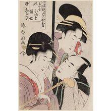 勝川春童: Series: Chiwa Kagami Tsuki no Murakumo (a joint work with Utamaro). - ボストン美術館