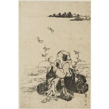 Utagawa Toyohiro: Woman of Ôhara and Butterflies - Museum of Fine Arts