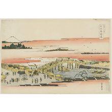 Utagawa Toyohiro: Clearing Weather at Nihonbashi Bridge (Nihonbashi seiran), from the series Eight Views of Edo (Edo hakkei) - Museum of Fine Arts