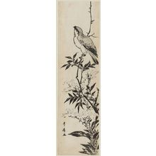 Utagawa Toyohiro: Bird on a branch of a flowering plant - Museum of Fine Arts