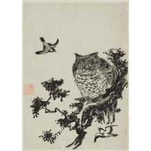 Utagawa Toyohiro: Owl and Sparrows - Museum of Fine Arts