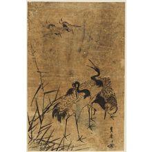 Utagawa Toyohiro: Cranes - Museum of Fine Arts
