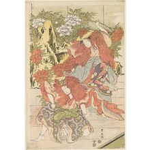 Utagawa Toyokuni I: Private Performance of Women's Kabuki: Shakkyô - Museum of Fine Arts