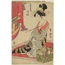 歌川豊国: Tsukioka of the Hyôgoya - ボストン美術館
