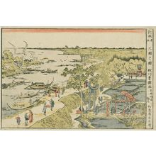 Utagawa Toyokuni I: View of Mimeguri (Mimeguri no zu), from the series Newly Published Perspective Pictures (Shinpan uki-e) - Museum of Fine Arts