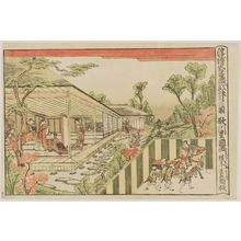 Utagawa Toyokuni I: Act II (Nidanme no zu), from the series Perspective Pictures of the Storehouse of Loyal Retainers (Uki-e Chûshingura) - Museum of Fine Arts