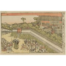Utagawa Toyokuni I: Act IV (Yodanme no zu), from the series Perspective Pictures of the Storehouse of Loyal Retainers (Uki-e Chûshingura) - Museum of Fine Arts